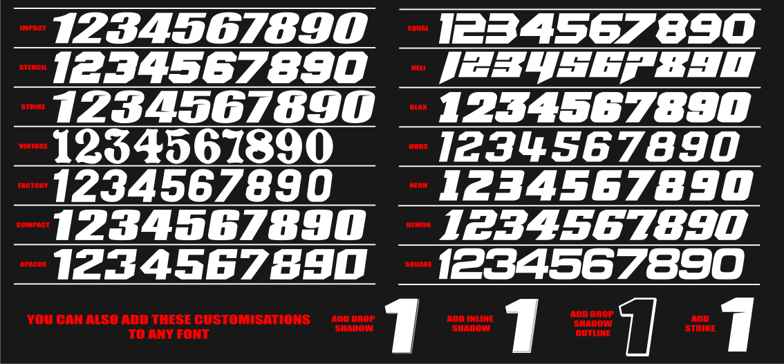 100+ Racing Number Fonts Free – yasminroohi