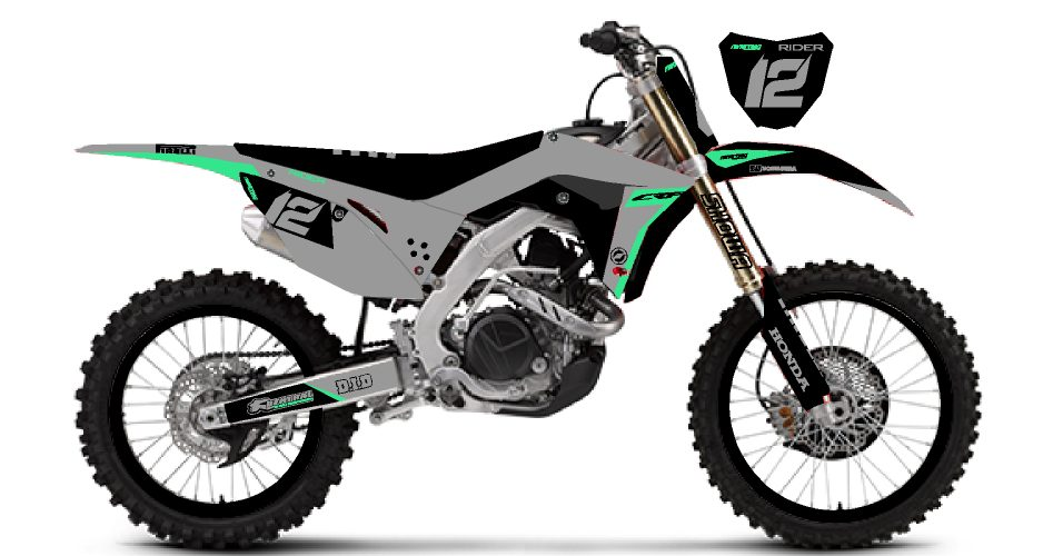 honda crf grey black
